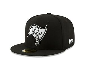 Tampa Bay Buccaneers  New Era Black & White 59FIFTY Fitted Hat - Black