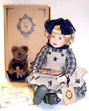 Boyds Yesterday's Child 16� Jean Marie & Nutmeg, Porcelain Doll & Teddy, New