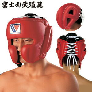 FG-2900 Winning Head Gear Face Guard Type Boxing Red M New BTO