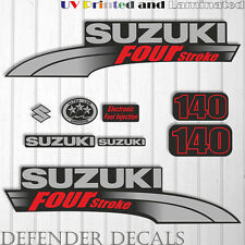 Suzuki 140 hp Four Stroke outboard engine decal sticker set kit reproduction