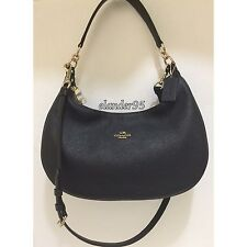 New Coach F38250 PEBBLED LEATHER HARLEY EW HOBO SHOULDER HANDBAG Black