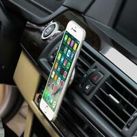 Universal 360 Rotate Magnetic Car Mount Holder Air Vent Stand For Cell Phone GPS