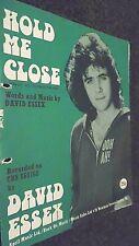 DAVID ESSEX: HOLD ME CLOSE (SHEET MUSIC)