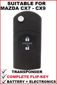 1x Transponder Remote Flip Car key suitable for MAZDA CX7 CX9 2007 - 2015  type4