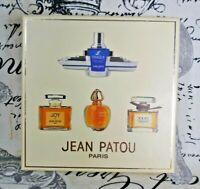 JEAN PATOU Paris 3 Miniatures Eau de Toilette VOYAGEUR SUBLIME JOY Original Box