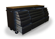 """US PRO TOOLS TOOL CABINET CHEST BOX BLACK BENCH 72"""" HEAVY DUTY FINANCE AVAILABLE"""