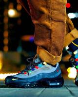 Nike Air Max 95 EOI Mens Grey Black Red Shoe Trainer Sneaker