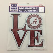 "Alabama Crimson Tide Car Truck Fridge Magnet - Love Circle Logo 6"" - New"