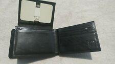 Simon 110H Black Italian Leather Men's Flip ID Billfold Wallet