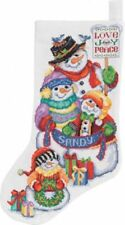 BRAND NEW Janlynn - Snow Folks Stocking Counted Cross Stitch Kit