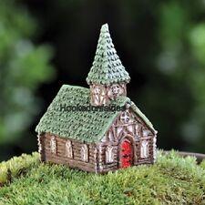 Miniature  Micro Woodland Church GO 17350  Fairy Garden Dollhouse Terrarium