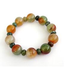 14mm Red Green Agate Gem Tibet Buddhist Prayer Beads Mala Bracelet