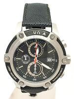 Orologio Cronografo NAUTICA A17573G Acciaio Pelle nero Uomo 105vv20