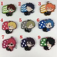 Anime Yarichin Bitch-bu Rubber keychain Key Ring Race Straps cosplay
