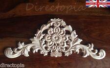 42 x 17cm GRANDE FIORE squisito classico legno intagliato centro Appliqué Furniture