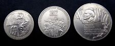 1987 Russia Soviet 1,3,5  Roubles 1987 70 Years October Revolution coin full set