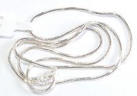 925 Silber Halskette - Collier - Schlange - Diamantiert Ø 1,6mm - Länge 45 cm
