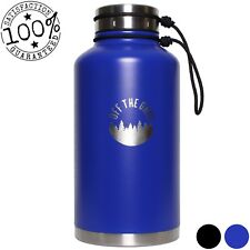 Stainless Steel Growler – Double Walled 64 oz Water Bottle
