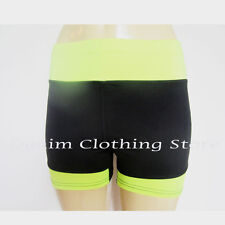 Women Athletic Sports Fitness Gym Training Waistband Yoga Tight Short Pants 12""