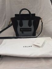 Authentic Celine Tricolor Pony Hair Micro Luggage Tote