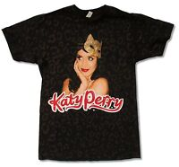 Katy Perry Kitty Mask Tour 2009 All Over Print Black T Shirt New Official
