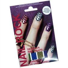 Nail Rock CHEVRON Designer Nail Wraps Foils Nail Art Upto 10 Day Wear