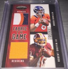 2012 Certified BROCK OSWEILER / ROBERT GRIFFIN III Fabric of Game Dual Patch /49