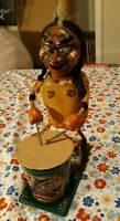 Nutty Indian By Marx & Co Vintage Tin Toy Broken For Parts / Display Only