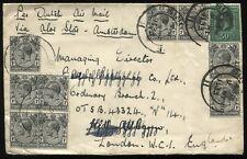 Straits Settlements  KGV 1933 cover to London via Dutch Airmail