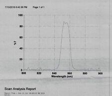 Optical Filter 855BP15 25.0 mm Bandpass NOS IR Laser/LED Blocked UV to 1500 85%