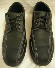 MEN'S DEER STAGS BLACK OXFORDS SIZE 13 MEDIUM WITH  MEMORY FOAM FOOTBED EUC