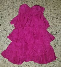 WOMENS Sz 6 pink LADAKH strapless layered dress LOVELY! PADDED BUST! SIDE ZIP!