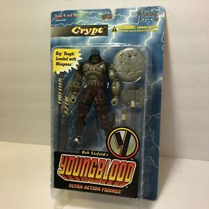 McFarlane Toys 1995 Rob Liefeld's YoungBlood Ultra Action Figure Crypt Bad Box