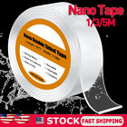 1-5M Nano Tape Double-Sided Traceless Adhesive Invisible Gel Waterproof Reusable
