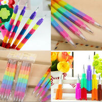 8x Colorful Pencils 8 Colors Stacker Swap Building Block for Children Gift J/&C