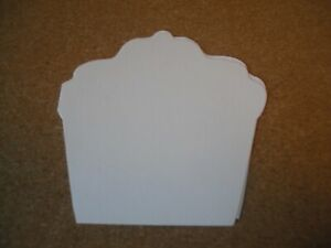 """10 x Cupcake Shaped Cards With Envelopes For Crafting   - 5"""" x 5"""""""