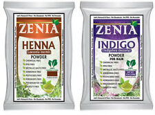 100g Zenia INDIGO +100g ZENIA HENNA POWDER BLACK HAIR COLOR FOIL PACK
