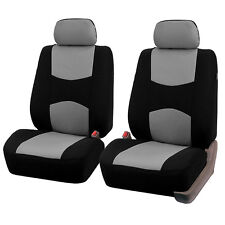 5Seats 9Pcs Mesh Polyester Front+Rear Cover Protector Gray Color Fit For Ford