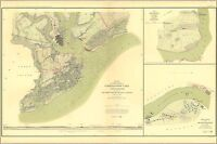 Poster, Many Sizes; Civil War Map Of Charleston South Carolina , Belmont  1861