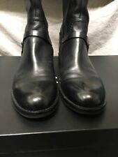 Ecco Hobart 25mm Black Leather Boot Size EU42 US11-11.5