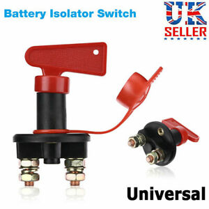Universal 12V Battery Isolator Switch Cut Off Kill Switch Car Boat Van Truck UK