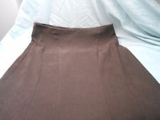 NEW LOOK SUEDE TYPE LONG LINE SKIRT - BROWN - SIZE UK 12 EUR 40