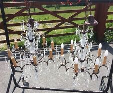 Large Pair Of Vintage Crystal Chandeliers