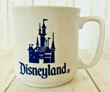Disneyland Vintage Walt Disney White Coffee Mug Cinderellas Castle Made in Japan