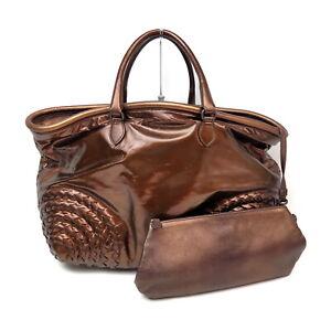 Bottega Veneta Tote Bag  Browns Vinyl coated leather 1134679
