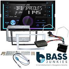 Vauxhall Zafira B JVC Bluetooth Digital Radio CD Car Stereo Silver Steering Kit