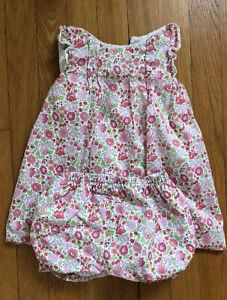 Spanish boutique NANOS liberty london dress and bloomers sz 3T  Bonpoint $98