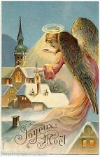 CHRISTMAS ANGEL. ANGE DE NOËL. GAUFRé EMBOSSED. JOYEUX NOËL. MERRY CHRISTMAS