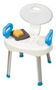 Carex EZ Bath & Shower Seat with Handles Bathroom Safety Chair 300lb Bench NEW