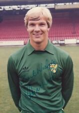 Player Photo - Chris Wood (Norwich City) 1981 to 1986 with Printed autographs
